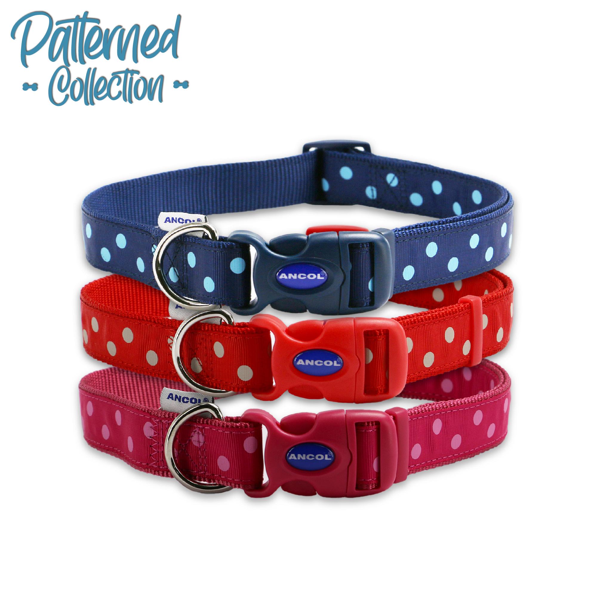 Obojek pro psy nylon - puntík růžový