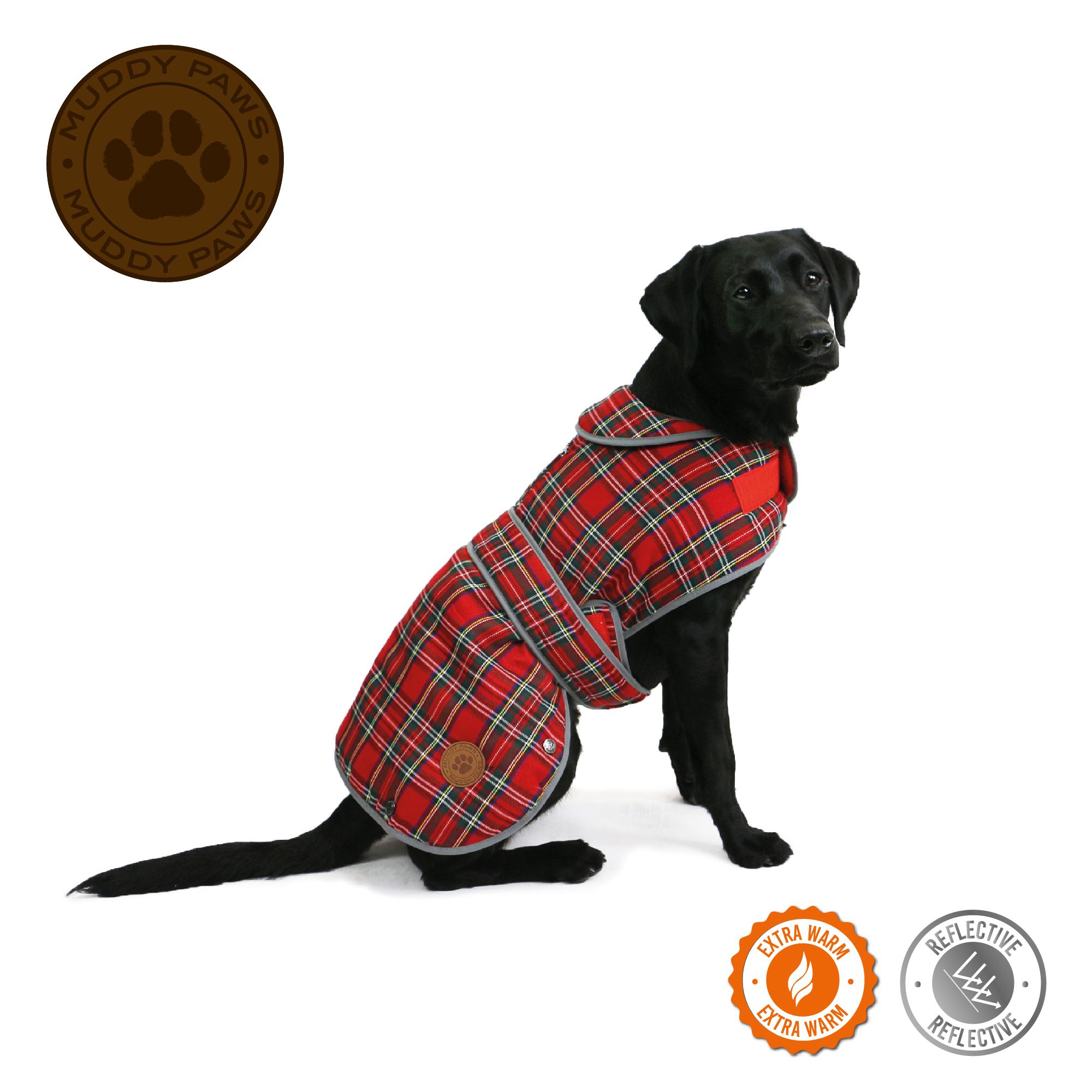 Obleček pro psy tartan