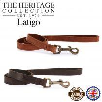Latigo Leather Lead Chestnut 100cm x19mm