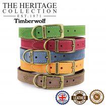 Timberwolf Leather Collar Green 20-26cm Size 1