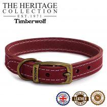 Timberwolf Leather Collar Raspberry 26-31cm Size 2