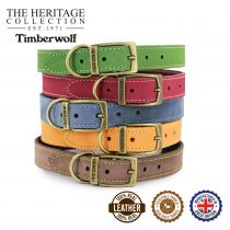 Timberwolf Leather Collar Mustard 26-31cm Size 2