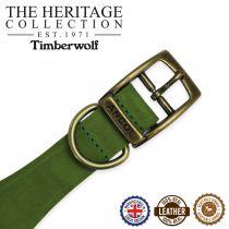 Timberwolf Greyhound Collar Green 34-43cm