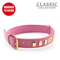 Terrier Staff Knot Collar Pink 55-63cm Size 8