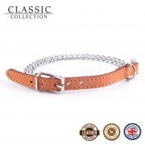 2 Row Chain Collar Tan 26-31cm Size 2