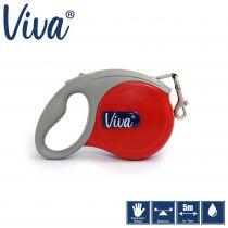 Viva Retractable 5m Lead Red S