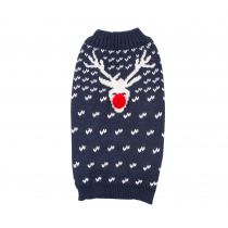 Blue Christmas Reindeer Jumper XXS