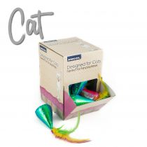 Coloured Party Hats in Display Box 24pcs