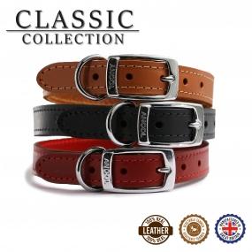 Classic Leather Collar Tan 20-26cm Size 1