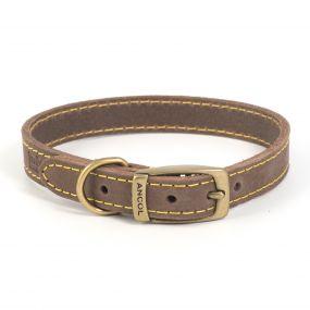 Timberwolf Leather Collar Sable 22-26cm XS