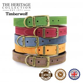 Timberwolf Leather Collar Mustard 20-26cm Size 1