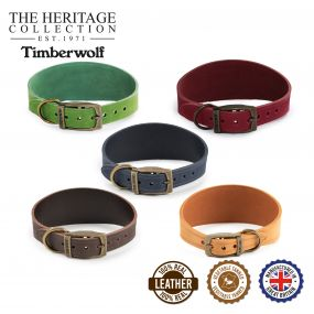 Timberwolf Greyhound Collar Mustard 34-43cm