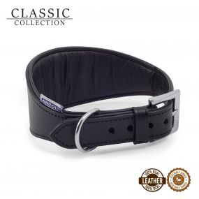 Whippet Padded Collar Black 30-34cm