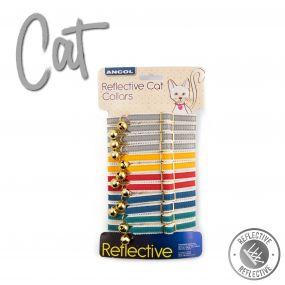12 x Cat Collar Display Cards Reflective