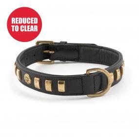 Terrier Rose Collar Black 45-54cm Size 6