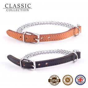 2 Row Chain Collar Black 26-31cm Size 2