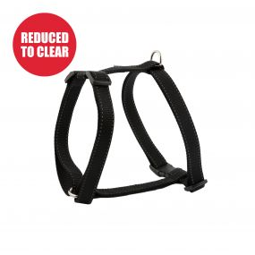 Nylon Dog Harness Black S 37-58cm