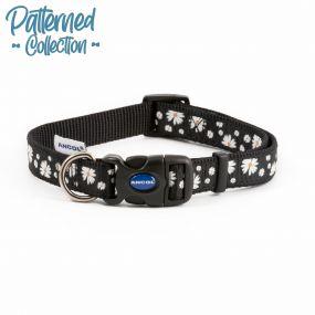 Fashion Collar Black Daisy Adjustable 20-30cm