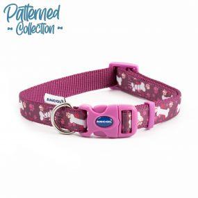 Fashion Collar Purple Bone Adjustable 20-30cm
