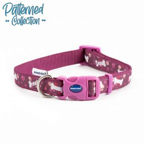Fashion Collar Purple Bone Adjustable 45-70cm