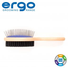 Wood Handle Double Sided Brush L
