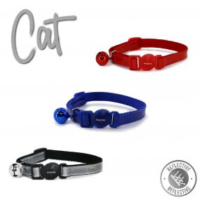 Gloss Refl Safety Cat Collar Red