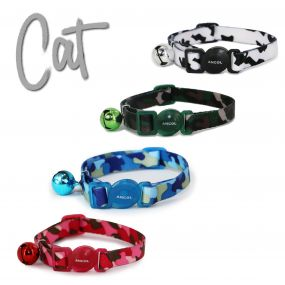 Cammo Safety Cat Collar Black/White