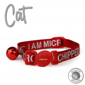 I Am Micro Chipped Safety Cat Collar