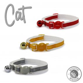 Reflective Safety Buckle Cat Collar Red