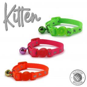 Hi-Vis Safety Kitten Collar Green
