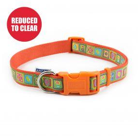 Orange Squares Collar 45-70cm Size 5-9