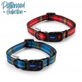 Tartan Collar Blue 20-30cm Size 1-2