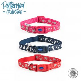 Fashion Collar Pink Reflective Hearts Adj 20-30cm