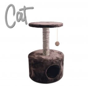 Hide Out Deluxe Scratch Post Choc/Cream