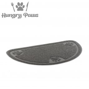 D-Shape Feeding Mat Grey