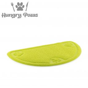 D-Shape Feeding Mat Green
