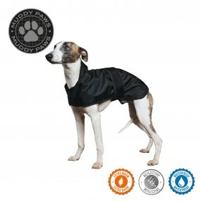 Whippet Dog Coat Black 43cm