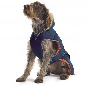 Navy Parka Dog Coat XL