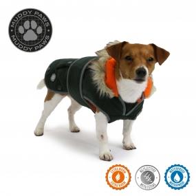 Green Parka Dog Coat S