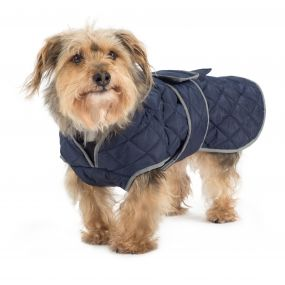 Quilted Dog Coat Navy XXL