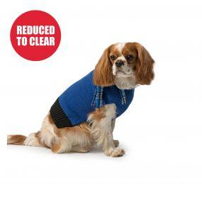 Blue Scarf Dog Jumper M