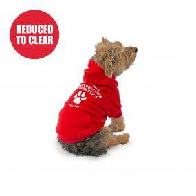 Red Uni Dog Hoodie XS