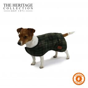 Heritage Green Check Coat 60cm XL