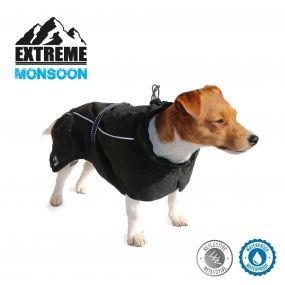 Extreme Monsoon Dog Coat Black 25cm