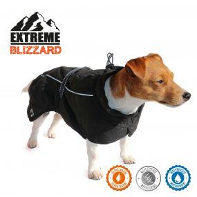 Extreme Blizzard Dog Coat Black 25cm XS