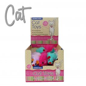 Furry Mice Cat Toy display box 24pcs