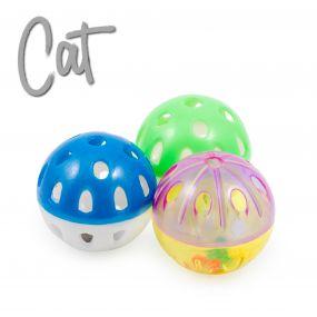 Plastic Balls Cat Toy 3pc pack