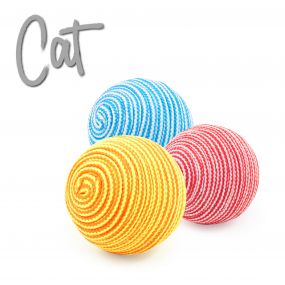 String Balls Cat Toy 3pc pack