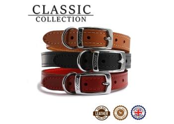 Classic Leather Collar Tan 35-43cm Size 4