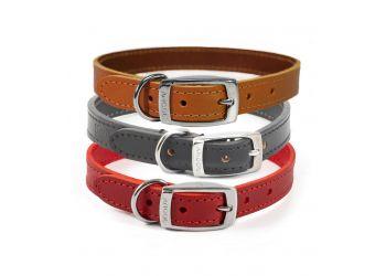 Classic Leather Collar Tan 45-54cm Size 6